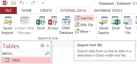 How to import CSV into Microsoft Access database