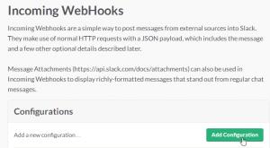 Add new Slack configuration